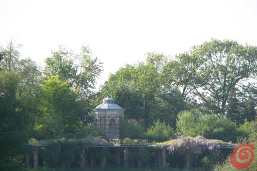 Il padiglione nel parco della villa di Beervelde