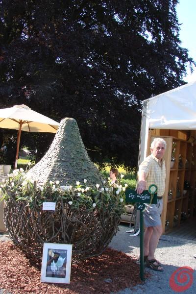Espositori alla fiera di giardinaggio di Beervelde