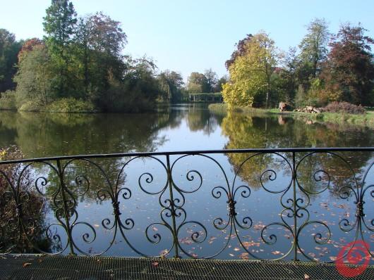 La vista sullo stagno della villa di Beervelde
