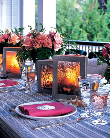 Le fotografie e le candele, una decorazione inedita