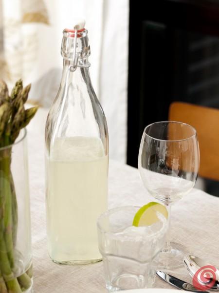 La limonata per completare la cena agli asparagi