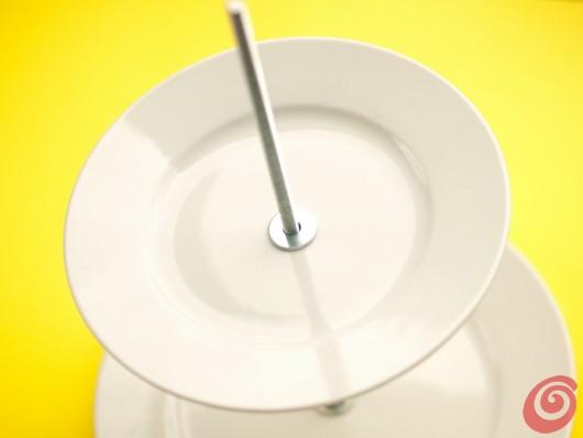 Avvitiamo il secondo piatto per il portadolci fai da te