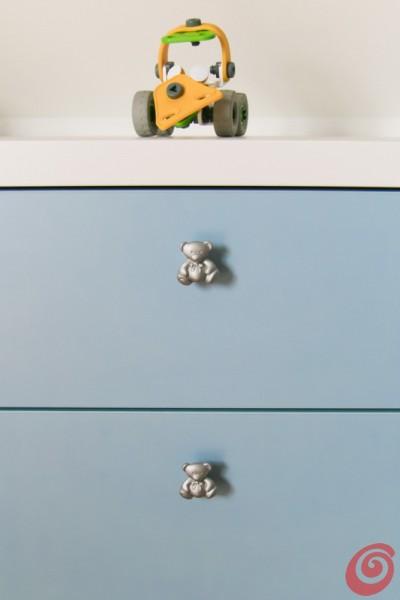 I pomoli a forma di orsetto per la cameretta studio