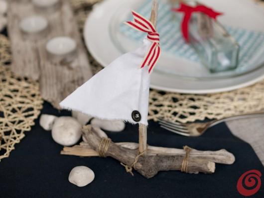 La barchetta per la decorazione tavola apparecchiata alla marinara è pronta!