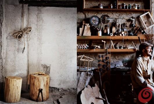 Il laboratorio di un falegname, Ditte Isager