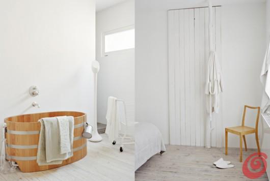 Arredamento interno bianco, Ditte Isager