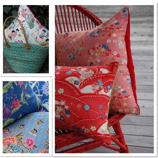 Cuscini in tessuti giapponesi
