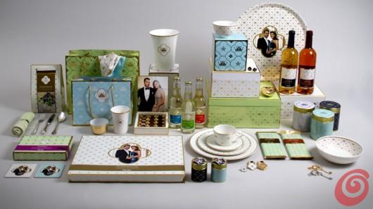 La linea di souvenir commemorativi per la tavola, per il matrimonio reale svedese.