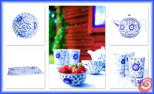 Il blu su fondo bianco sulle porcellane di Minh