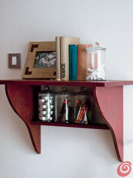 La mensola vintage per lo studio in casa
