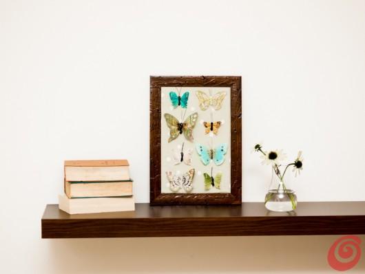 La decorazione per le pareti con le farfalle è pronta