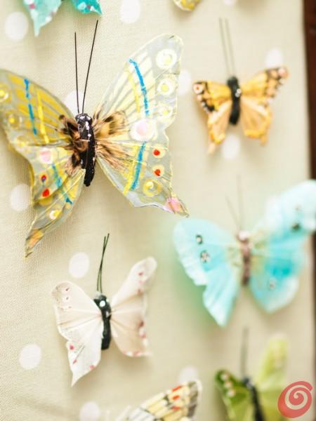 idee fai da te per decorare la casa, le farfalle