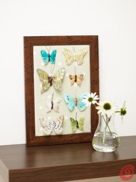 idee per decorare la casa, le farfalle