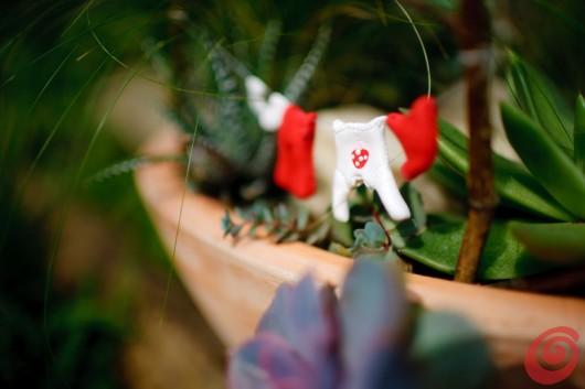 Ideja za dekoracijo cvetličnega lonca z deželo palčkov