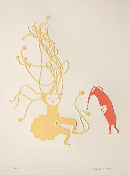 Portugalska grafičarka, ilustratorka, ustvarjalka knjig iz blaga, vezenin, majic ... Ana Ventura