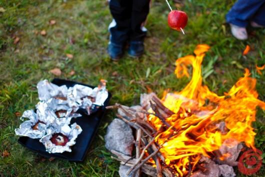 idee per un picnic autunnale - le caldarroste all'aperto