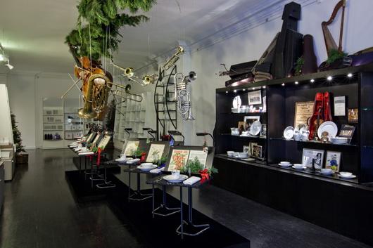la mostra natalizia della tavola apparecchiata della Royal Copenhagen, Danimarca