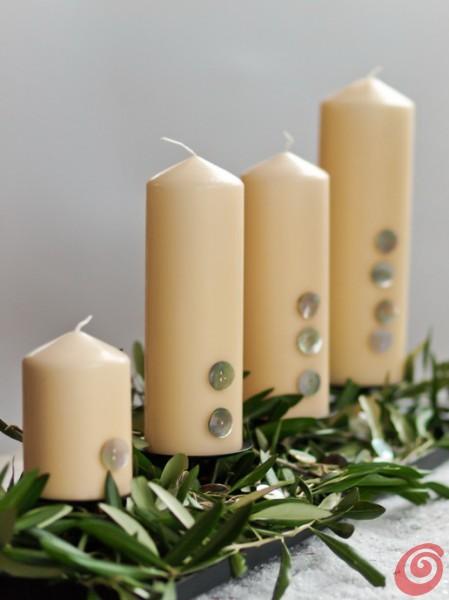 Adventni venček: Namesto klasičnega kroga sveče na podstavku