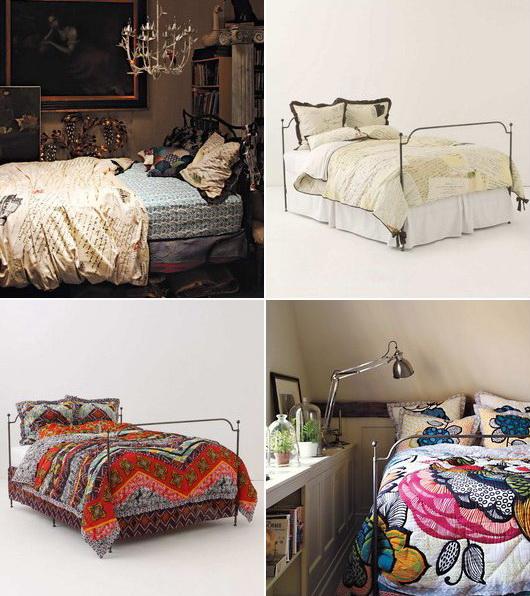 il negozio anthropologie e la sua biancheria da letto