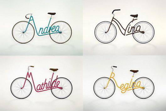 juri zaech e la bicicletta con il nome nel telaio