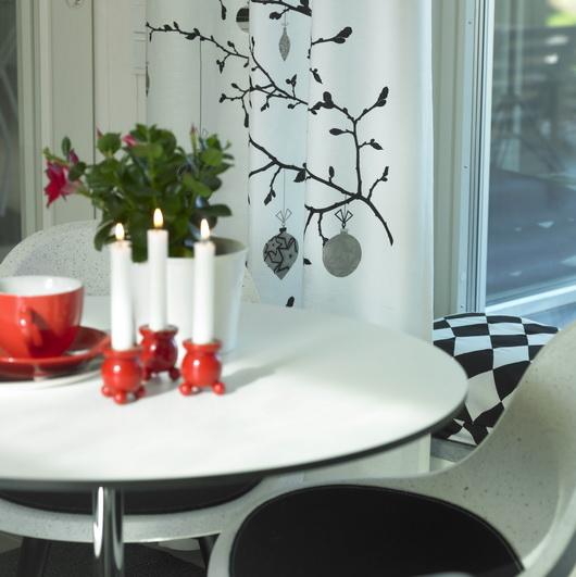 Decorazioni natalizie scandinave di Spira, le tende