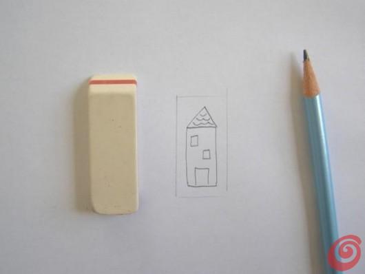 tutorial timbri fatti in casa per decorare la carta per confezionare i regali
