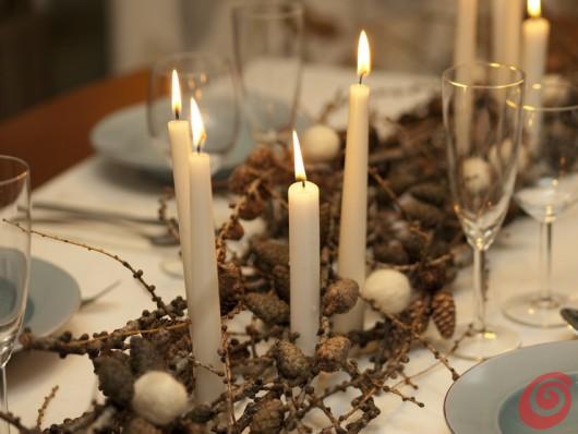 La tavola di capodanno con i materiali naturali casa e trend - Tavola di capodanno idee ...