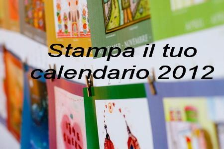 il calendario 2012 da stampare gratis