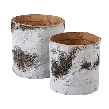 Granit, le scatole che ricordano la corteccia di betulla, decorazioni scandinave svedesi