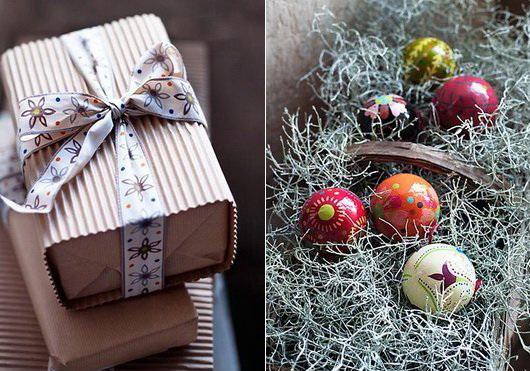 Addobbi natalizi e confezioni regalo variopinti dal nord, Gudrun Sjoden, i colori dalla scandinavia