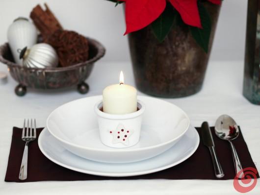 i vasetti fai da te, segnaposto per addobbare la tavola o regalo di Natale