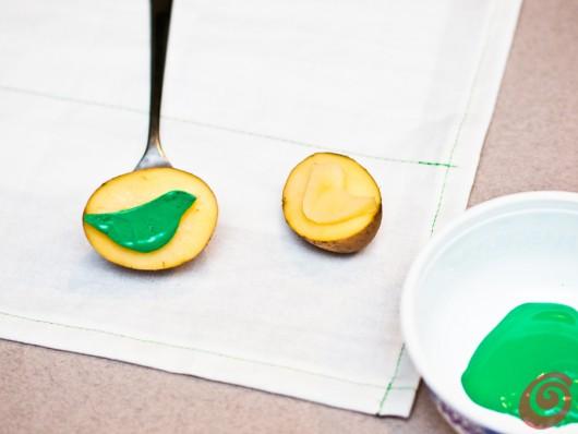 I tovaglioli decorati con i timbri fai da te casa e trend - Tovaglioli di carta decorati ...