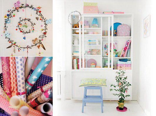 Addobbi natalizi e confezioni regalo variopinti dal nord, Rie Elise Larsen, i colori dalla scandinavia