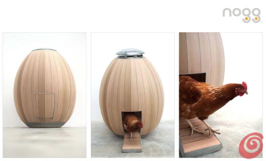 Il pollaio per le galline chic. Una soluzione per avere sempre delle uova fresche in casa: The nogg!
