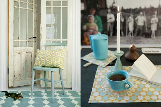I colori primaverili come li vedono i produttori di tessili per la casa scandinavi: cuscini decorativi, tappeti, tende, tovaglie, rivestimenti. Come resistervi? Brita Sweden
