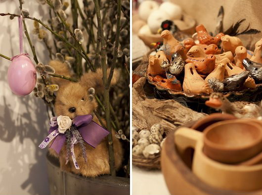 Ondate colorate di ghirlande, coroncine, addobbi e fiori: l'Atelier Dom Art e la sua mostra primaverile.