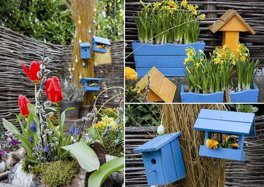 Addobbare il giardino con le decorazioni pasquali casa e for Decorazioni in ferro per giardino