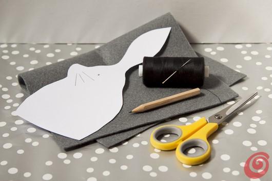 Lavoretti pasquali, il coniglio di feltro per le decorazioni pasquali fai da te