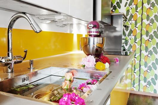 Idee per utilizzare il giallo in cucina casa e trend for Enormi isole di cucina