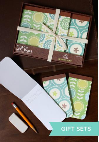 Fantasie stupende e colori armonici. La cartoleria di Green room.