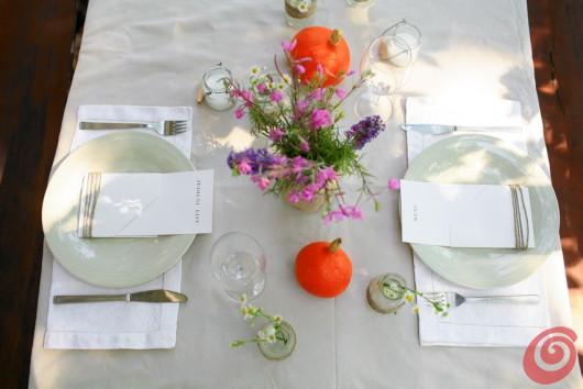 Jesenska dekoracija mize