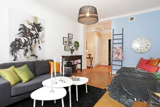 Arredare un salotto con zona notte casa e trend - E simile al divano letto ...