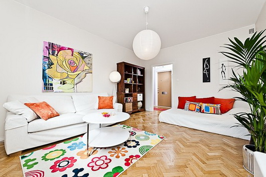 Arredare un salotto con zona notte casa e trend - Cuscini decorativi per letto ...