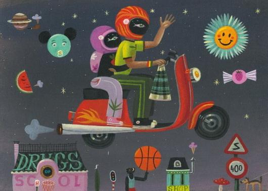 I mondi curiosi delle illustrazioni di Tom Schamp