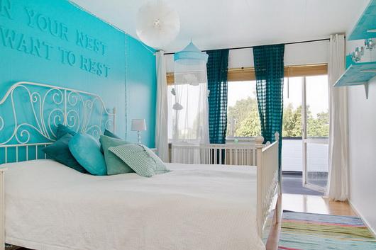 Camera Da Letto Parete Turchese : Camera da letto parete turchese joodsecomponisten