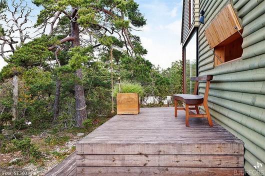 Una casa di vacanza con vista sul bosco