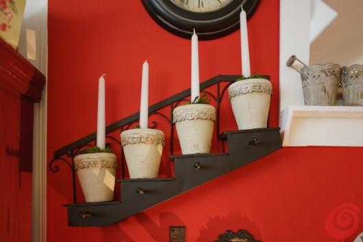 Addobbi di natale, le candele per l'avvento