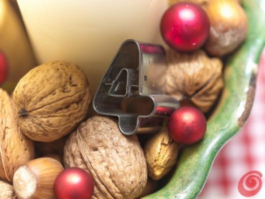 Lo stampo per i dolci si trasforma in centrotavola natalizio