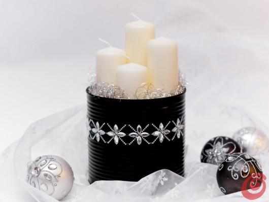 Il centrotavola natalizio con i materiali di recupero