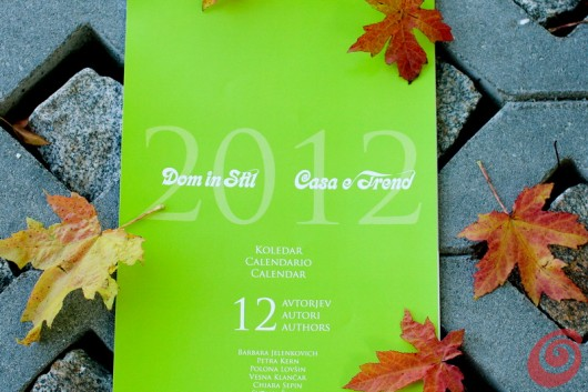 calendario con illustrazioni casa e trend 2012